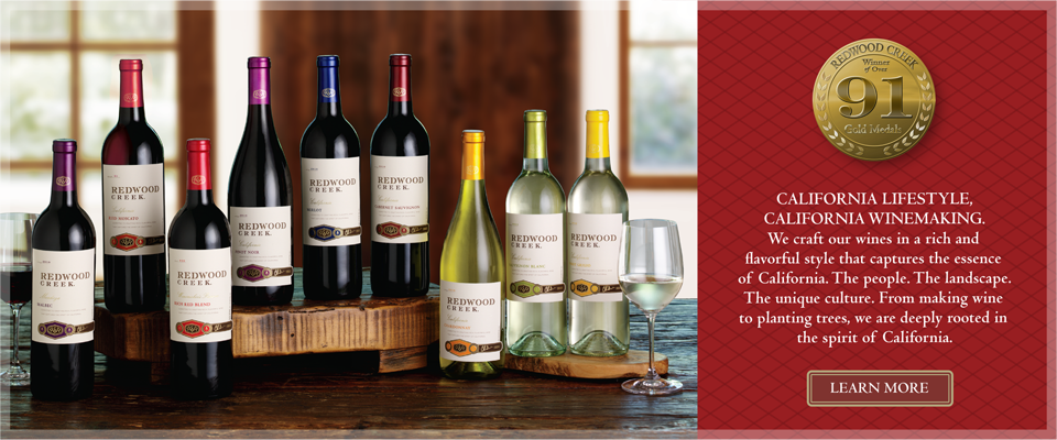 Redwood Creek California Wines Rich And Flavorful