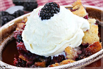 Blackberry & Malbec Cobbler