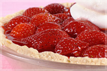 Strawberry Ice Box Pie