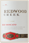 Red Moscato Label